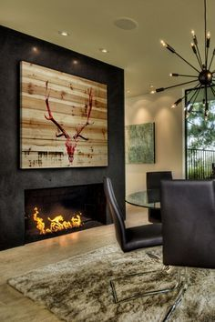 Hot Temper Wood Wall Art on HauteLook. You could actually mount an axis on the boards.