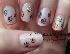 Rainbow Paw prints
