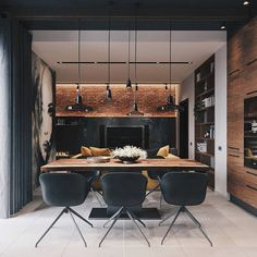 Loft Apartment Inspiration // Codecor SPB The Perfect Scandinavian Style Home Interior Design Examples, Loft Interior Design, Bar Interior, Loft Design, Apartment Interior, Apartment Design, Interior Design Inspiration, Kitchen Interior, House Design