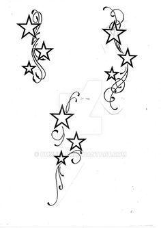STARS WITH SWIRLS by BMXNINJA on DeviantArt #tattoosforwomenonwrist
