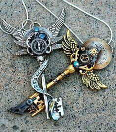 I love key necklaces.
