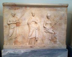 Art grec classique. Monument funéraire. Musée Archéologique National. Athènes