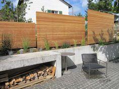 Peter Studer Holzbau AG - Sichtschutzwand von Arx, Wangen