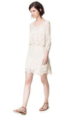 Building a Spring 2013 Wardrobe: LACE DRESS - Dresses - Woman - ZARA Canada