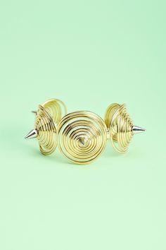 Spiral Spike Cuff