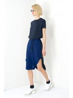 Assembly New York Bevel Dress - Navy/Blue