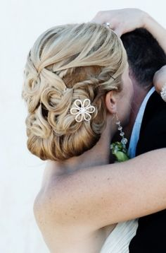 Gorgeous intricate wedding updo hairstyle