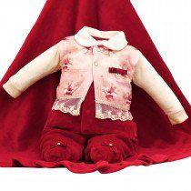cb40bd37ebfd3 Saída de Maternidade Sonho Mágico Fleur Plush Luxo Vermelho