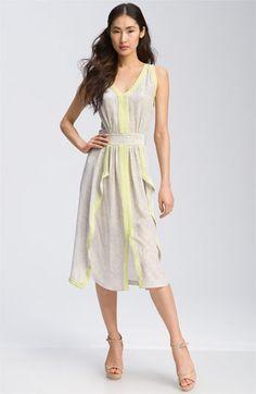 Rebecca Taylor 'Python' Cascade Ruffle Dress.