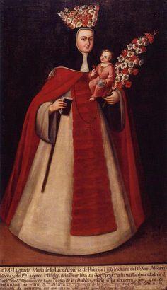 madre maria Lugarda de la luz - Museo nacional de virreynato Mexico