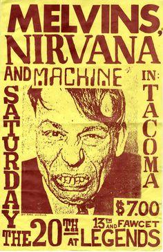 Melvins - Nirvana - Machine | flyer