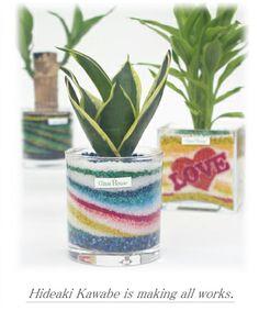 グラスハウスのワンルーム工房 「サンドアートの観葉植物」 ご案内