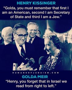 Golda Meir: master of clapbacks Golda Meir, Henry Kissinger, Story Of The World, The Ugly Truth, Head Of State, People Of Interest, Judaism, My People, Literature