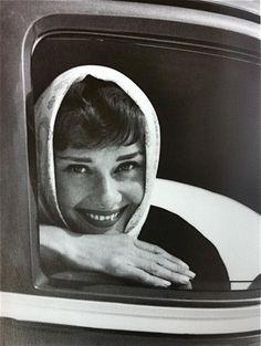 Audrey Hepburn, 1954. Photo by Mel Ferrer.