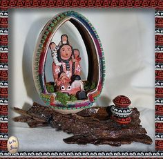 StoryTeller Faberge' Style Goose Egg Diorama  $90