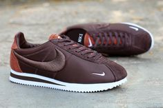 Factory Outlet Nike Classic Cortez 2016 Latest Flowers Running Shoes For Women Brown