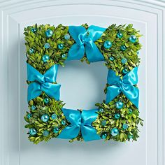Boxwood Blue Wreath