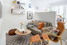 Amenajare veselă și practică pentru o garsonieră de 40 m²