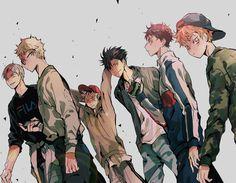 haikyuu, tsukishima kei, and kuro tetsuro image Manga Anime, Manga Haikyuu, Me Anime, Haikyuu Fanart, Fanarts Anime, Anime Art, Haikyuu Tumblr, Kagehina, Haikyuu Karasuno