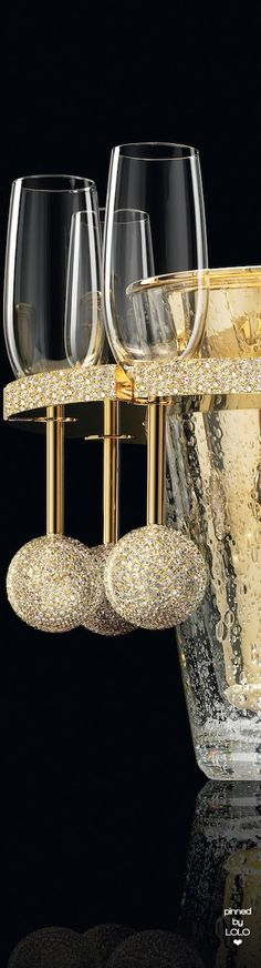 Gold and Diamond Champagne Cooler | LOLO❤︎