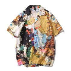 Casual Printed Short Sleeve Shirt Men Street 2020 Hawaii Beach Oversize Women Fashion Harujuku Shirts for Men on AliExpress Shirts For Teens, Casual Shirts For Men, Men Casual, Mens Fashion Suits, Fashion Outfits, Men Street, Vintage Men, Summer Outfits, Summer Clothes