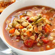 Soup is good food, especially this homemade minestrone soup. This classic Italian potage is prepared with only the healthiest ingredients. There's good reason for you to love every spoonful of our soup -- it's a healthy choice!