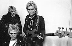 The Police, Backstage, Locarno Ballroom, Bristol, March 1978 by Lawrence Impey, via Flickr