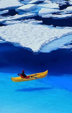 Sea Kayaking in Glacier Bay National Park in Southeast Alaska. How amazing would this be??