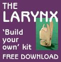 Build-your-own articulated larynx. My first thought was that the finished product looks like the batman and now I can't un-see it.
