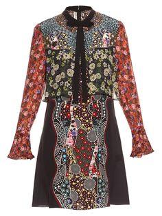 Milana Cosmo Gardenia-print silk dress   Mary Katrantzou   MATCHESFASHION.COM US