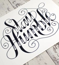 Stay Humble Art Print | A simple design, featuring an excellent reminder, this art pri... | Posters