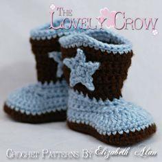 Cowboy Boots Crochet Pattern