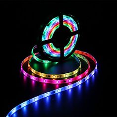 Colored Led Light Strips Delectable Battery Powered Led Strip Lights5050 2M66Ft Ip65 Waterproof