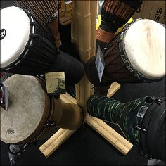 This Drum Tree Merchandising Floor Stand is tall enough to have store presence, and versatile enough to present a range of bongo and tom-tom drums. Folk Music, Musical Instruments, Drums, Retail, Flooring, Clothes, Music Instruments, Outfits, Clothing