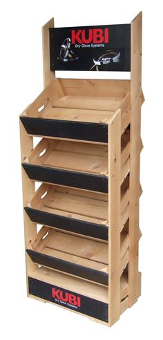 Branded Wooden Crates for Retail Display and Point of Sale