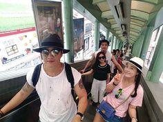 in #Hongkong... #너무너무덥다~~~땀으로 샤워하며  #미드레벨에스컬레이터 중간에 내려서 #PACIFIC #COFFEE #아이스초코 한잔~~☕🍧 그래도 난 재미난다~😆😆 #홍콩여행#여름휴가#마카오여행