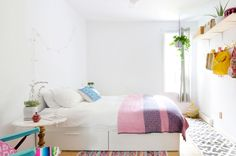Paint colors that match this Apartment Therapy photo: SW 0022 Patchwork Plum, SW 6506 Vast Sky, SW 6286 Mature Grape, SW 9001 Audrey's Blush, SW 0013 Majolica Green