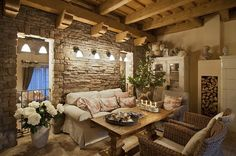 my dream living room Funky Furniture, Furniture Makeover, Provence, Porch Accessories, Stone Houses, Old Houses, My House, Sweet Home, Living Room