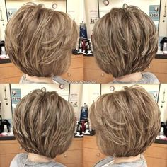 The Full Stack: 50 Hottest Stacked Haircuts - - Feminine Stacked Bob Short Hair With Layers, Short Hair Cuts For Women, Short Hairstyles For Women, Short Hair Styles, Trendy Hairstyles, Korean Hairstyles, Gorgeous Hairstyles, 2015 Hairstyles, School Hairstyles
