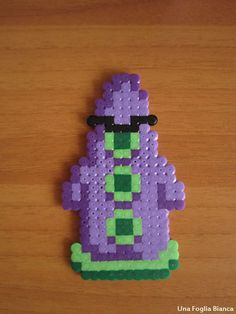 Hama beads Day of the tentacle perler keychain by UnaFogliaBianca