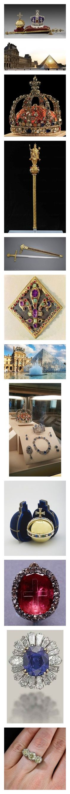 """""""Crown Jewels of the French Royal Family"""" by charlottebernadotte ❤ liked on Polyvore featuring accessories, eyewear, sunglasses, jewelry, rings, crucifix ring, cross ring, cross jewelry, cross jewellery and thin rings"""