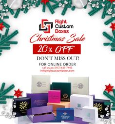 A Christmas Box is a great way to make the night before Christmas fun for the whole family. Get unique Christmas Box ideas on Christmas sale. ☑️ No die & plate charges.⠀ ☑️ High quality offset printing.⠀ ☑️ 6-8 business day turnaround.⠀ ☑️ Starting from 100 boxes.⠀ ☑️ Free Shipping. #customboxes #wholesalecustomprintedboxes #packagingdesign #packagingideas #rightcustomboxes #christmas #christmasboxes #CustomPrintedPackagingBoxes #Sale #saleboxes Custom Packaging, Box Packaging, Packaging Design, Custom Printed Boxes, Custom Boxes, Offset Printing, Print Box, The Night Before Christmas, Free Quotes