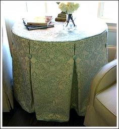 table skirt - can hide stuff too!