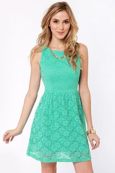 Mint birthday dress