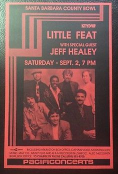 LITTLE-FEAT-JEFF-HEALEY-PACIFIC-CONCERTS-HANDBILL-SANTA-BARBARA-COUNTY-BOWL-ROCK