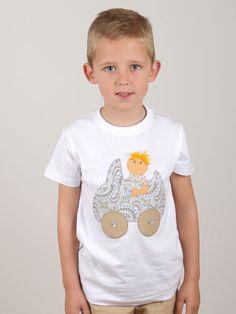 conjunto #personalizado #niño #camiseta con #muñeco en coche descapotable