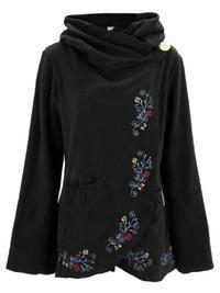 Flowering Vines Fleece Wrap Jacket : The Animal Rescue Site Textiles, Flowering Vines, Warm Coat, Casual T Shirts, Casual Fall, Ladies Dress Design, Elegant, Cowl Neck, Nice Tops