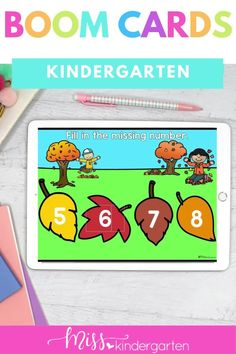 These Kindergarten Digital Boom Cards help students practice number sense and counting in these missing number activities that a digital for distance learning. These are self checking activities for Boom. This is part of a mega October Kindergarten Activity Bundle. Kindergarten Math Activities, Number Activities, Number Sense, Student, Learning, Cards, Fun, Fin Fun, Studying