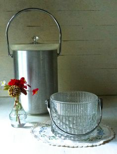 Two vintage ice buckets - Southern Vintage Table