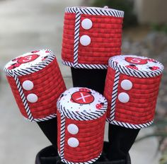 Golf Gear By Darcee Golf Club Headcovers, Cork Fabric, Coordinating Colors, Golf Bags, All Design, Golf Clubs, Ladybug, Are You Happy, Gears